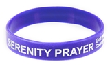 8090007 Set of 3 Serenity Prayer Silicone Bracelet Rubber God Grant Me AA ...