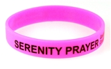 8090010 Set of 3 Serenity Prayer Silicone Bracelet Rubber God Grant Me AA ...