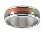 8mm Solid Stainless Steel Mood Ring 70's Style Not Cheap Very Good Quality