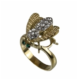 403 Gold Tone Stainless Steel Bumble Bee Ring