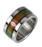 S16 Stainless Steel Mood Ring Endless Band High Quality Rainbow Colors