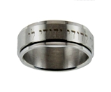 S48 I Am My Beloved Song of Solomon 6:3 Stainless Steel Spinner Ring Hebrew My Beloved is Mine