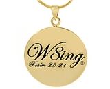 SH056 NNB W8ing Engraved Purity Abstinence Promise Pendant Necklace