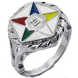 T2 TqwtkOESS1NXX Stainless Steel OES Masonic Ring