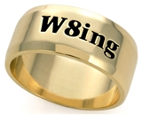 SH060BNNB W8ing Purity Promise Abstinence Engraved Band